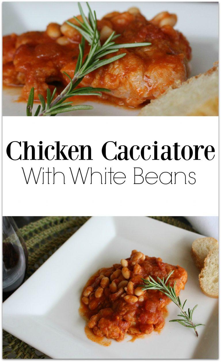 Easy Chicken and White Bean Cacciatore