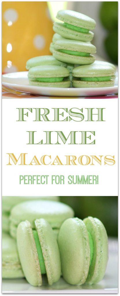 Fresh Lime Macarons