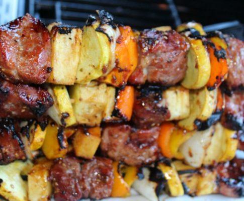 Grilled Teriyaki Pork Kabobs