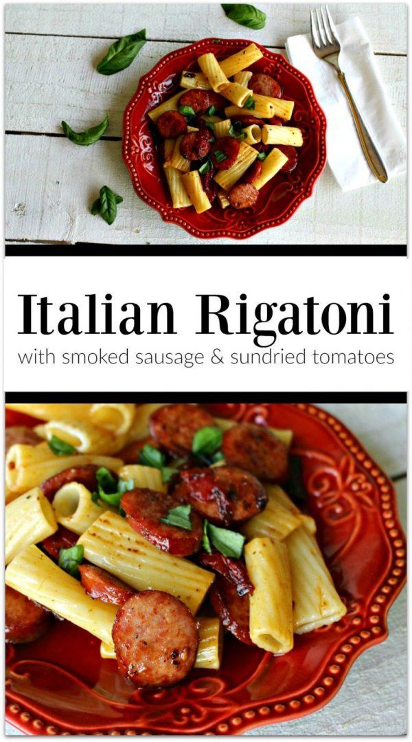 Italian Rigatoni with Smoked Sausage and Sun-dried Tomatoes