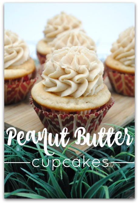 Light and Creamy Peanut Butter Cupcakes