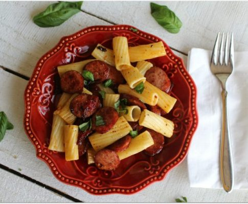 Italian Rigatoni with Smoked Sausage and Sun-dried Tomatoes
