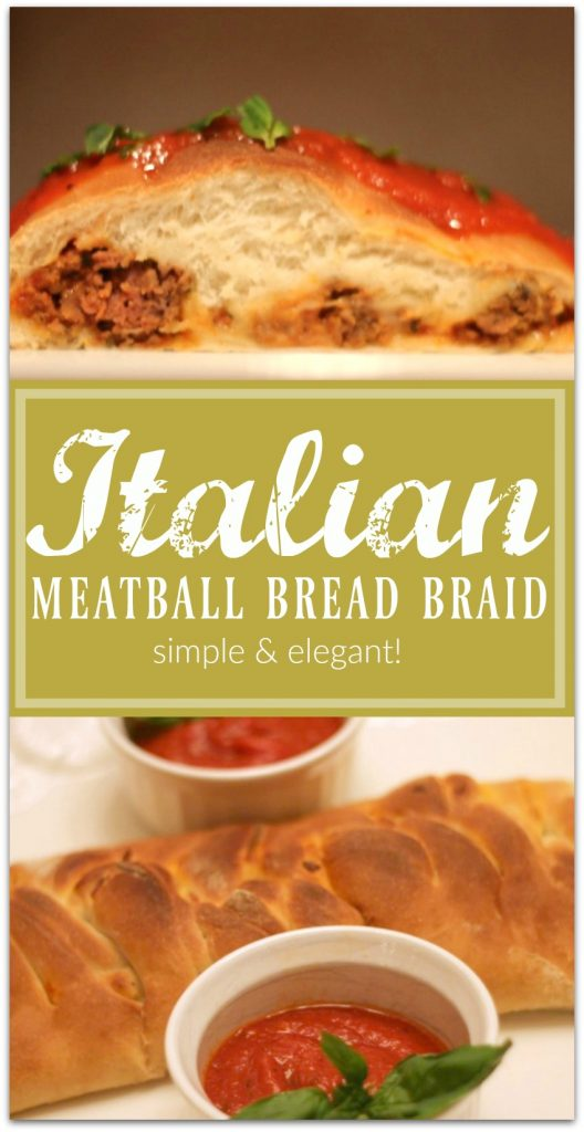 Easy Elegant Italian Meatball Bread When I want to make something special for my family or to take to a holiday party, a bread braid is my go-to.