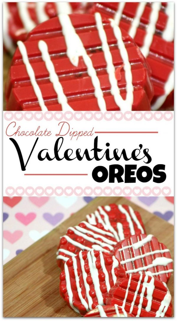 Chocolate Dipped Valentine's Oreos