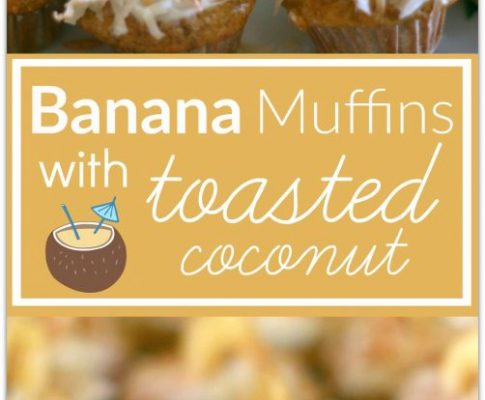 Banana Muffins with Toasted Coconut