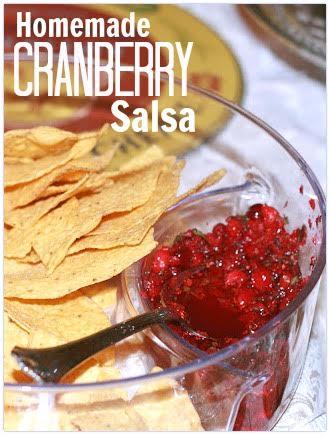 Homemade Cranberry Salsa