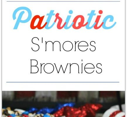 Patriotic Smores Brownies