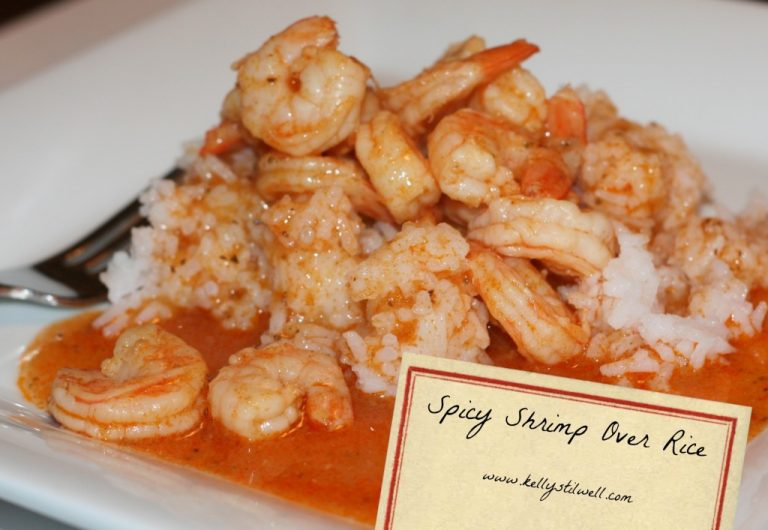 Spicy Shrimp over rice