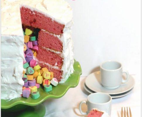 Sweethearts Surprise Cake
