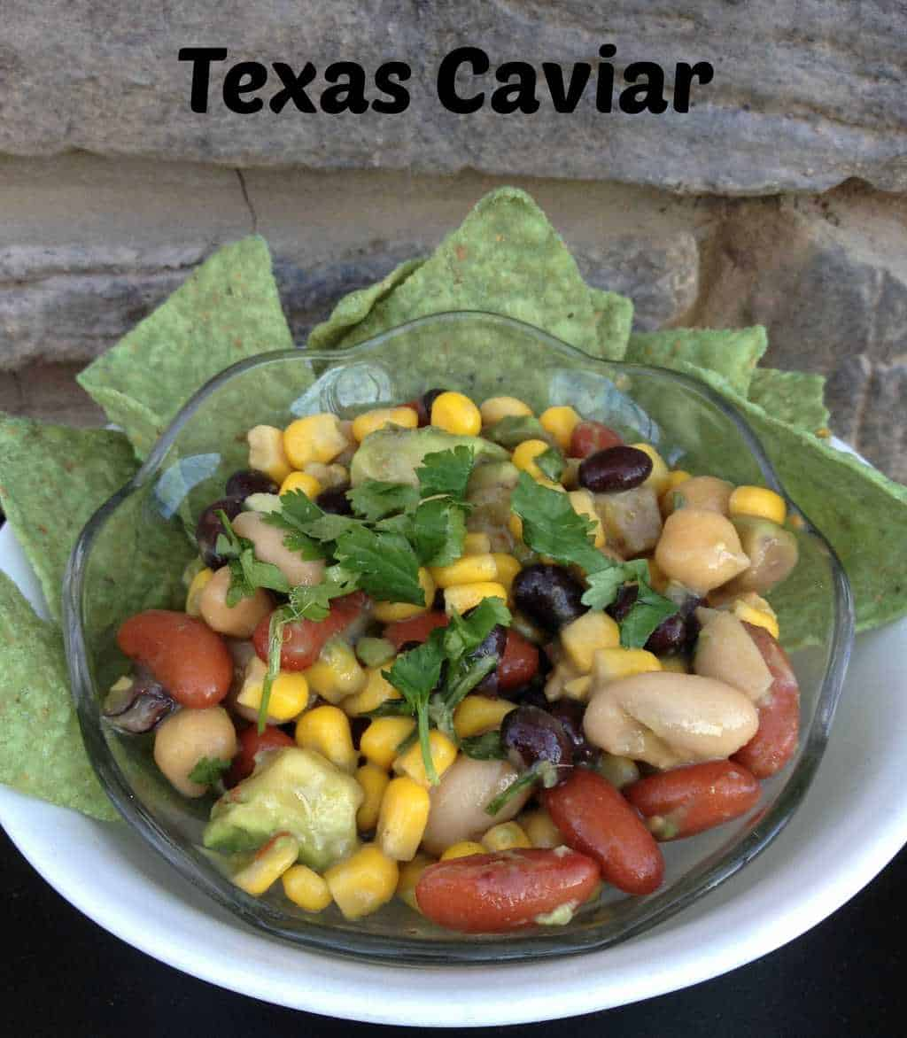 Texas Caviar Recipe  This Texas Caviar recipe is an all time favorite at our house. I like it because it's easy to make, uses lots of healthy ingredients and it's taste is out of this world. I make this for potlucks, picnics and family meals. You can use it as a dip, salad or main dish.