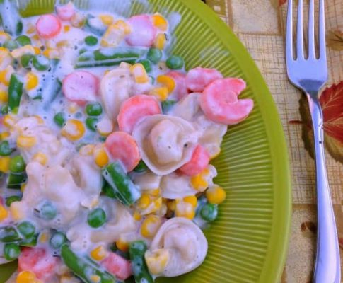 Creamy Vegetable Tortellini Recipe