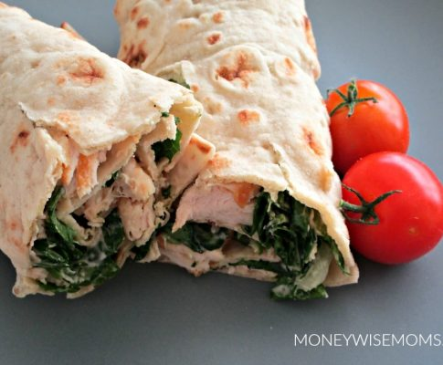 Caesar Chicken Wraps for Lunchbox Packing