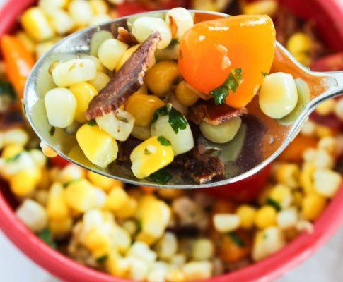 Delicious Corn Salad With Bacon