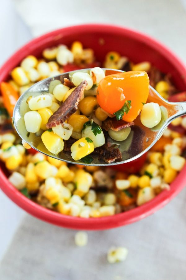 Delicious Corn Salad With Bacon