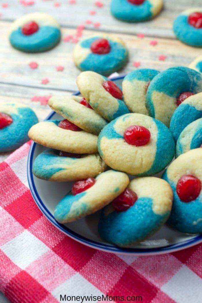 Patriotic Thumbprint Cookies
